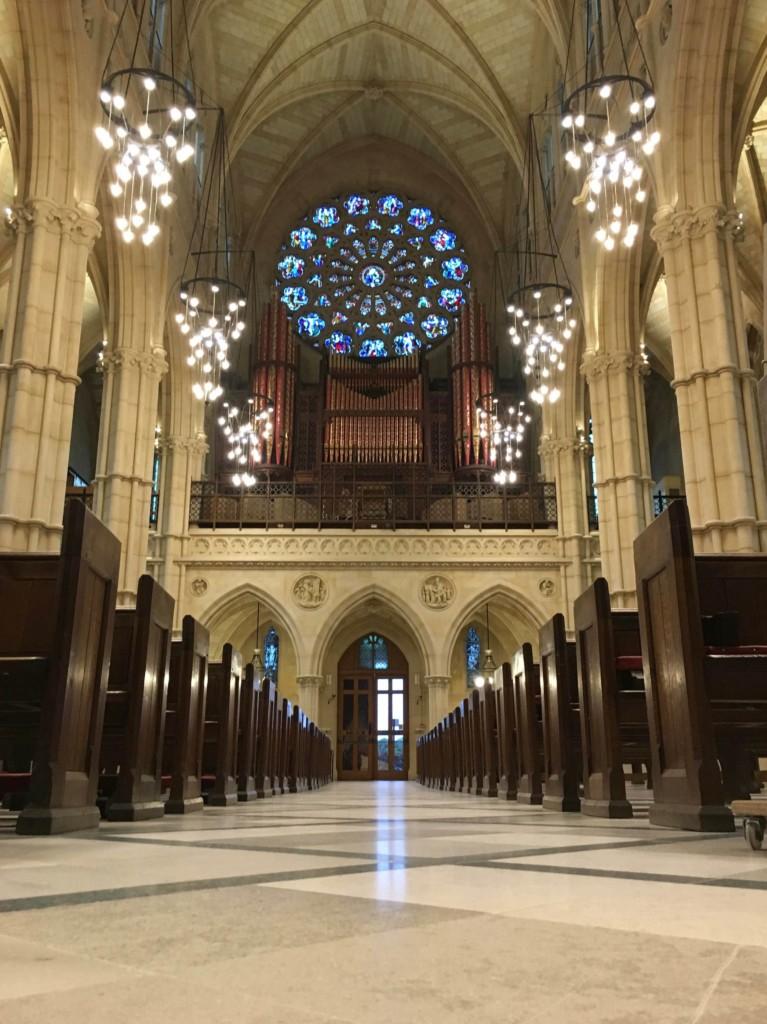 Arundel Cathedral Limestone Floor Restoration Maintenance West Sussex