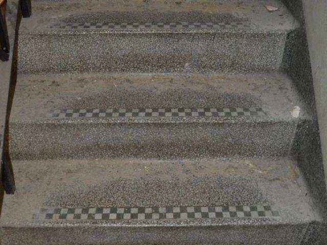 Damaged Terrazzo stairs