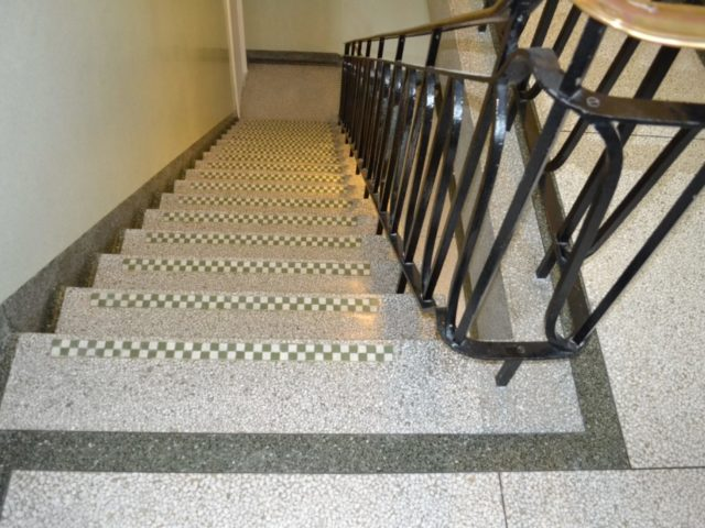 Terrazzo stair cleaner cleaning polishing sealing restoration repairs