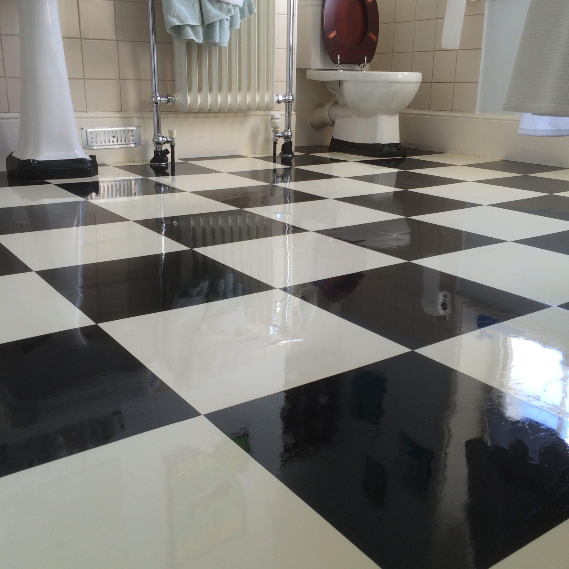 Bathroom Vinyl Floor Stripping Sealing Romsey Hampshire Floor