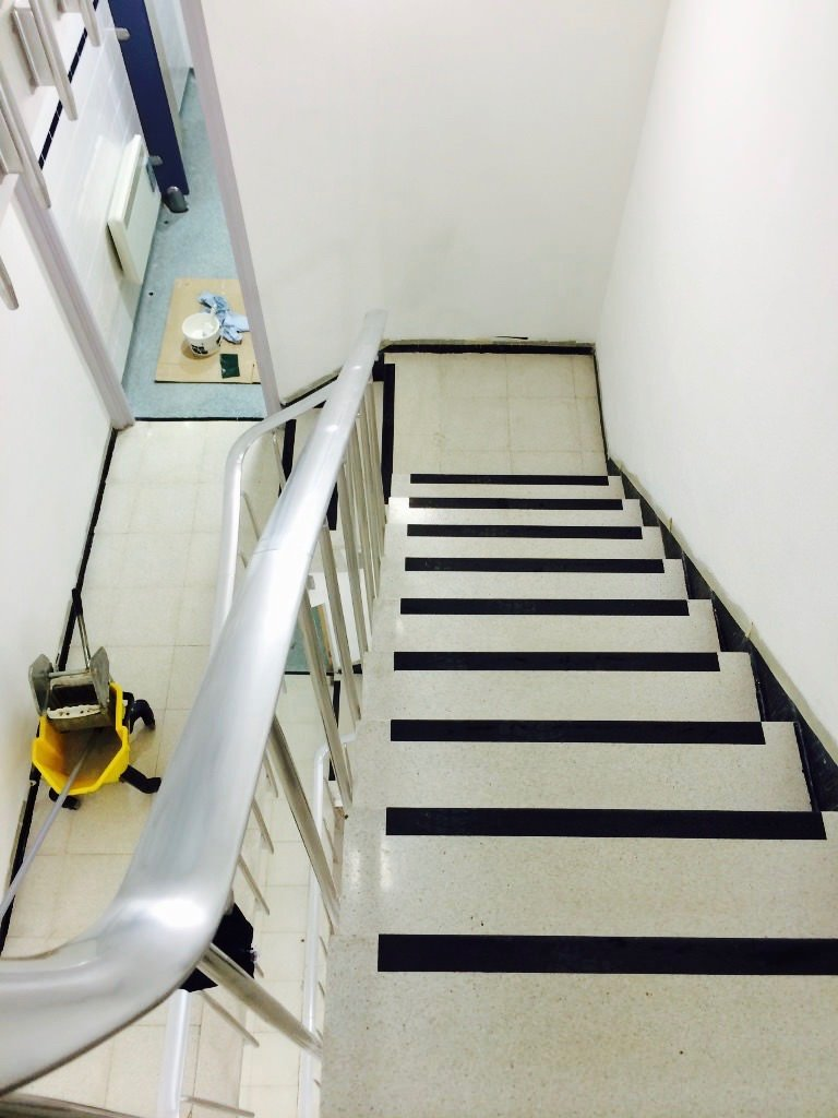 Terrazzo Stair Restoration Cleaners Cleaning Polishing East Sussex Surrey  Hampshire Kent