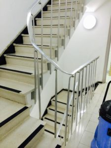Terrazzo stair restoration cleaner cleaning Polishing Sealing Company East Sussex Surrey Hampshire Kent