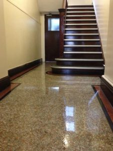 Terrazzo floor restoration cleaner cleaning company East Sussex Hampshire Surrey Kent