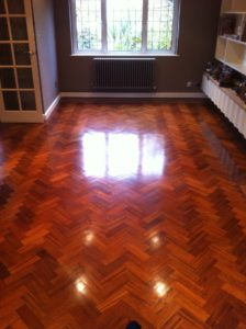 Wood floor cleaning polishing waxing buffing Brighton East Sussex