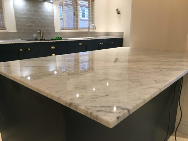 Kitchen marble limestone worktop cleaner cleaning polishing Brighton Hove East Sussex