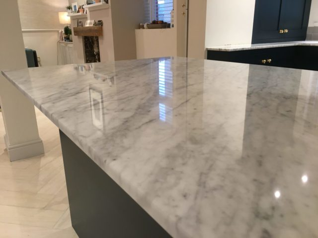 Marble Kitchen worktop cleaning polishing sealing Brighton Hove East Sussex