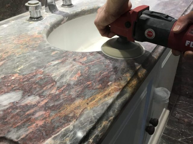 Limestone Marble bathroom Kitchen vanity work top cleaner sealing Brighton Hove East Sussex 6501