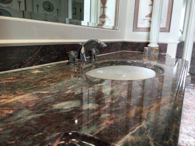 Limestone Marble bathroom Kitchen vanity work top cleaner sealing Brighton Hove East Sussex 6515