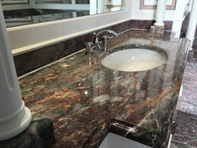 Marble Vanity unit cleaning polishing sealing Brighton East Sussex