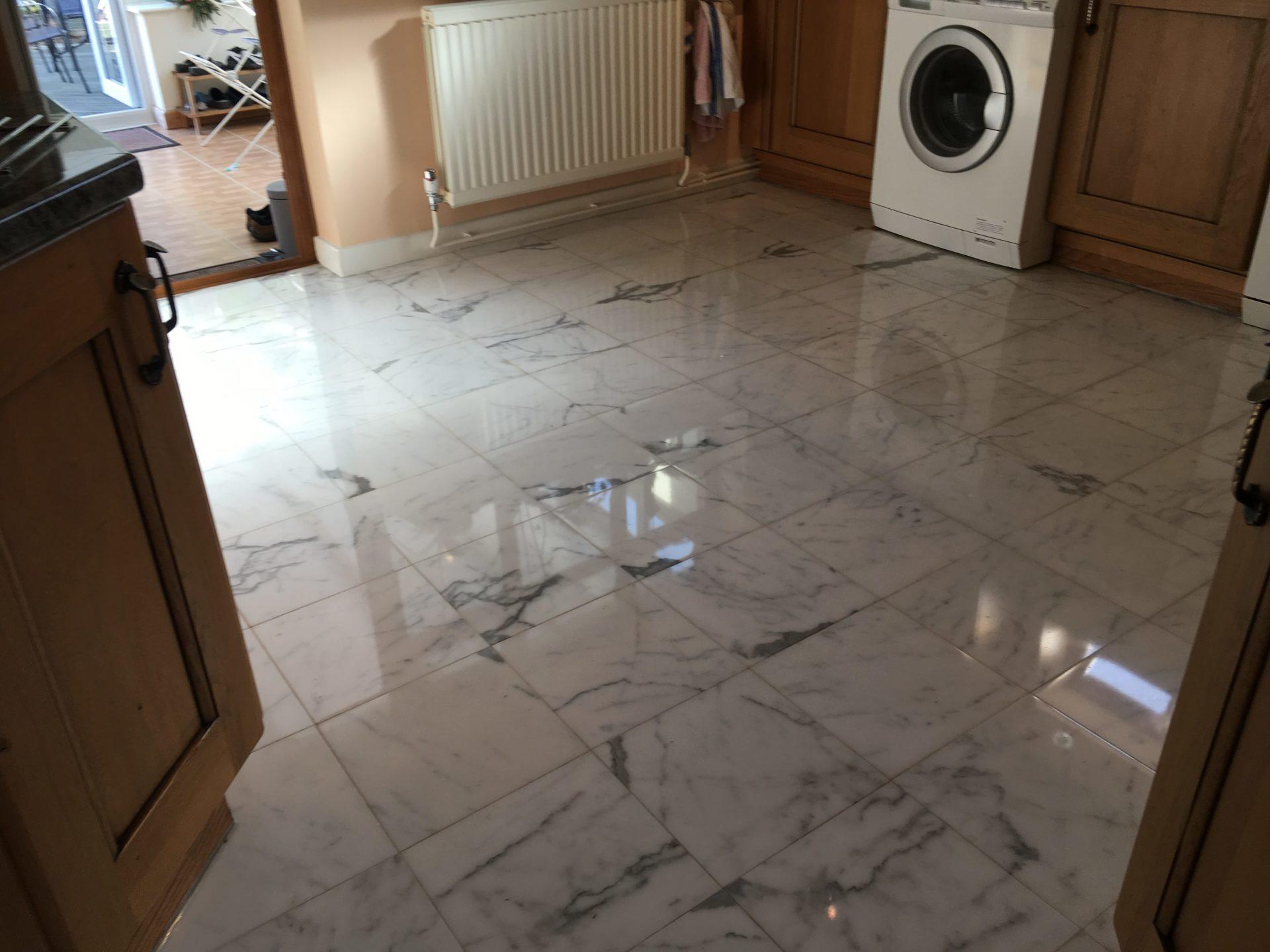 Marble Floor Restoration Cleaning Polishing - Havant