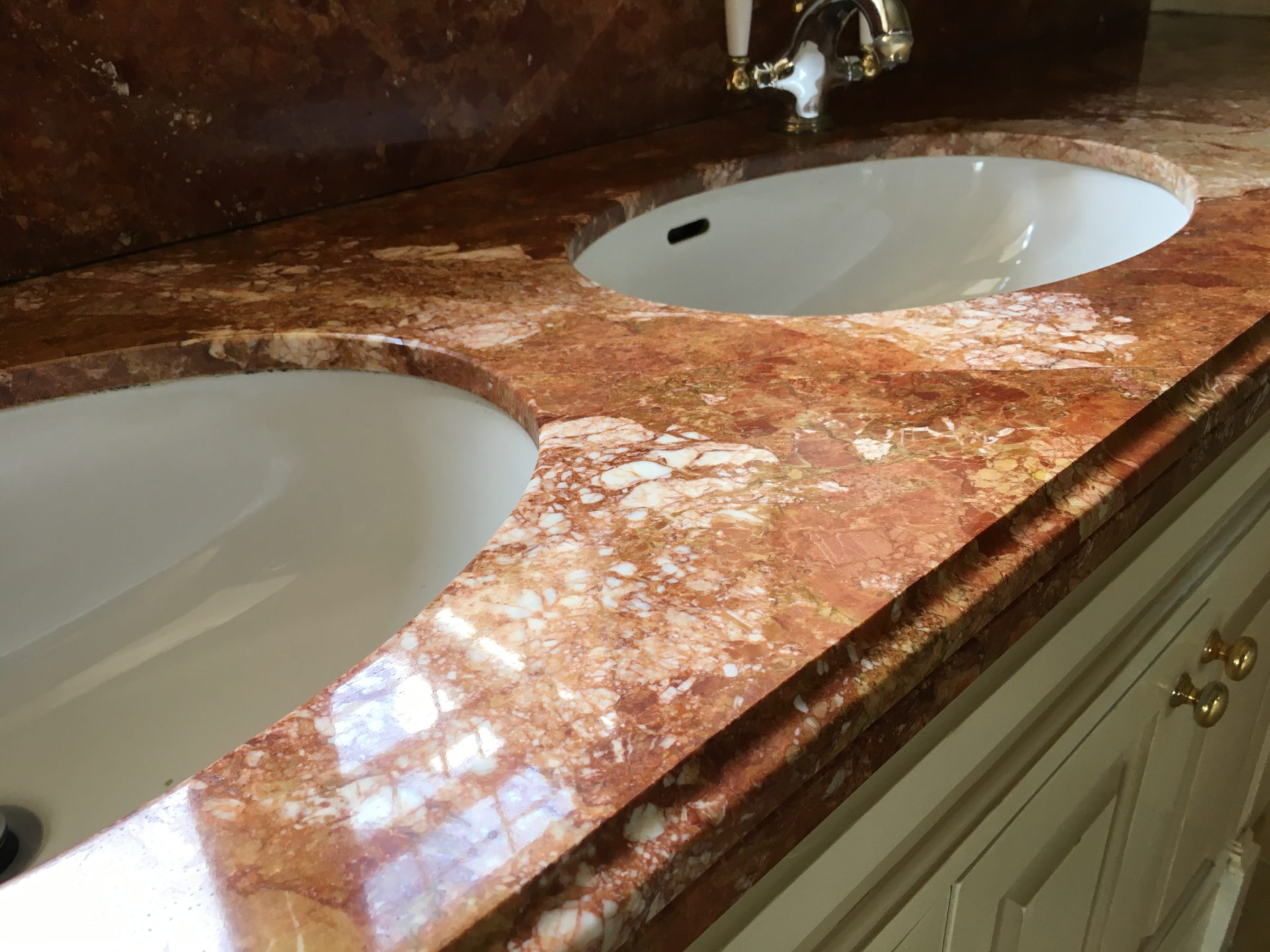 Marble Vanity Top Cleaning Polishing Sealing Hove East Sussex